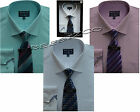 Herringbone Boxed Shirt &tie Set Office Formal Businessman Style By Tom Hagan