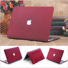 """Wine Red Quicksand Hard Case Cover For Macbook Air Pro Retina 11"""" 13"""" 15""""inch"""