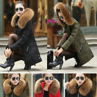 2014 NEW Women Ladies Warm Big Real Fur Collar Slim Thick Real Down Coat