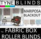 The FABRIC BOX - MARIPOSA BLACKOUT made to measure ROLLER BLINDS - straight edge