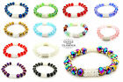 CRYSTAL DIAMANTE GLASS BEADED STRETCH FRIENDSHIP BRACELET BANGLE LOTS OF COLOURS