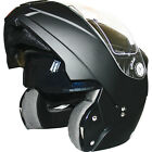 Leopard LEO-839 DVS Modular Flip Up Motorcycle Motorbike Crash Helmet Matt Black