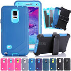 Heavy Duty Shockproof Case Cover + Belt Clip Holster For Samsung Galaxy & iPhone