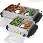 Electric Food Warmer Buffet Dish Hot Plate Tray Server Dinner Table Top Dining