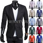 Stylish Men's Casual Slim Fit One Button Suit Pop Blazer Black Coat Jacket FKS