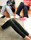 Womens Casual Lace Crochet Slim Tight Fit Skinny Pants Stretch Leggings FKS