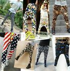 Fashion Womens Casual Elastic Waist Hip-hop Harem Pants Trousers 14 Colors FKS