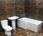 Vicky Century L Shape Showerbath Bathroom Suite Left Hand Square / Waterfall Tap