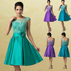 Stock Vintage Cap Sleeve Party Prom Dress Cocktail Bridesmaids Evening dresses