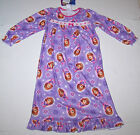 Nwt New Disney Princess Junior Sofia First Flannel Granny Nightgown Pajamas Girl