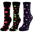 Womens Ladies Girls Spots/Dots Mid Calf Ankle Crew Short Patterned Socks New Lot