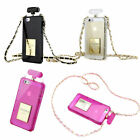 Luxury Perfume Bottle Silicone Case Chain Handbag For Phone&Tablet +Screen Cover