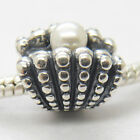 One of a kind Shell With Pearl Oyster Charm .925 Sterling silver Screw Bead