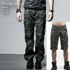 New PUNK RAVE Gothic Rock Mens Khaki Pants -Shorts K-190 ALL STOCK IN AUSTRALIA
