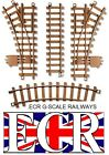 NEW G SCALE 45mm GAUGE PLASTIC RAILWAY TRACK ACCESSORIES CURVES STRAIGHTS POINTS