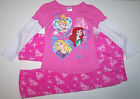 Nwt New Disney 3 Princess Pajamas Sleepwear Tiara Crown Pink Fluffy Cute Girl