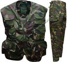 Kids Ripstop Camo Vest / Trousers Combats British DPM Camouflage Army Military