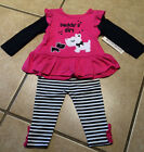 NWT Infant Cute 2pc Puppy Dogs Daddy's Girl outfit Set SIZES 12-24 mths