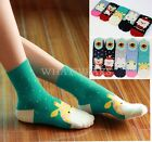Christmas Cartoon Colorful Women Wool Socks Warm Winter Cute Comfortable WWU