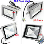US Stock 10W 20W 30W 50W IP65 RGB LED Flood Light Outdoor Floodlight Garden Lamp