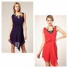 Karen Millen Silk Draped Beaded Evening Cocktail Party Dress Ladies Size UK 8-16
