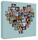 Heart Photo Collage Montage Framed Canvas Personalised