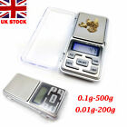 Pocket Weighing Digital Scale Jewelry Kitchen Scales 0.01g-200g / 0.1g-500g UK
