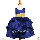 NAVY BELLE YELLOW WEDDING PICK UP FLOWER GIRL DRESS 6M 12M 18M 24M 2 4 6 8 10 12