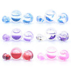 Liquid Glitter Snow Globe Blood Flesh Tunnel Ear Plug Stretcher Expander