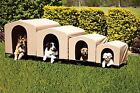 PortablePET HoundHouse Khaki Collapsible Dog Pet House Bed Elevated Kennel NEW