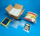 2-Mil Clear Poly Bags Layflat Open-Top Plastic Baggies 2ml Thick Large Small