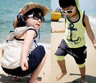 Baby Boys Kids Beach Hoodie T-Shirt Tops Clothes & Pants Outfit Sportswear Suits