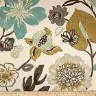 Braemore Gorgeous Pearl Multi Colored Floral Cotton Drapery Fabric by the Yard