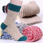 Winter Warm Men Women Knit Crochet Wool Soft Thick Socks Thermal Crew Cashmere