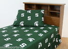 Michigan State Spartans Sheet Set Twin to King Size Color or White