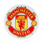 Manchester United F.C. Vinyl Sticker Size: 9x9cm Official Licensed Product