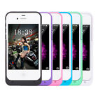 1900mAh External Backup Bank Power Battery Charging Case for Apple iPhone 4/4S