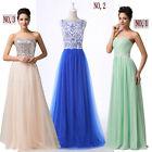 2015 STOCK New Long Chiffon Evening Formal Party Ball Gown Prom Bridesmaid Dress