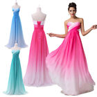 SEXY Colorful Long Chiffon Summer Evening Gowns Bridesmaid Prom Party Club Dress