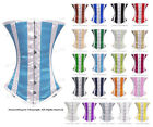 26 Double Steel Boned Waist Training Satin Underbust Shaper Corset #9029(W)