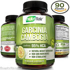 ▶ Pure Garcinia Cambogia 95% HCA Extract Best Weight Loss Diet Pills, Fat Burner