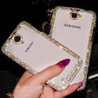For Samsung Galaxy S4/S5 Note3/4 Bling Rhinestone Transparent Diamond Case Cover