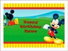 MICKEY MOUSE A4 Edible Icing Birthday Cake Party Decoration Topper
