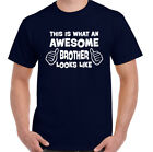 This Is What An Awesome Brother Looks Like - Mens Funny T-Shirt Father's Day
