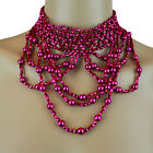 Belly Dance Accessory Matinee Elastic Choker Mesh Beaded Necklace
