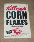 KELLOGGS CORN FLAKES TIN SIGN new vintage era cereal advertising box retro 50s