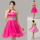 2015 Short Masquerade Ball Gowns Party Evening Bridesmaid Prom Dresses Plus Size