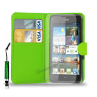 Huawei Ascend Y550  PU Leather Wallet Case i Mini Stylus Pen & Screen Protector