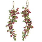 Artisan Earrings Branches Mixed Tourmaline Gemstones Sterling 14K Gold Filled