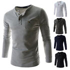 L-M-S-XS PROMOTION   Mens Casual Slim Fit Shirt Pullover T-Shirt Long Sleeve Top